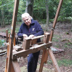 one our course attendees haed at it on the pole lathe